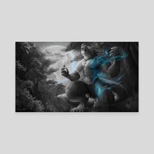 Full Moon - Canvas by Shaun Linn