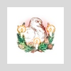 Holiday Pigeon - Art Print by life take