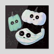 Gourds - Acrylic by Bee