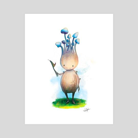 Blue Mushroom Sprite by Hannah Taylor