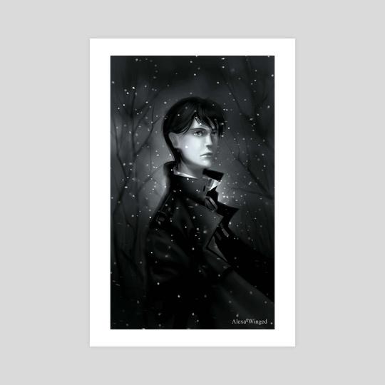 Falling snowflakes by Alexandra Krylatkova