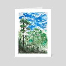 Rainforest Sketch - Art Card by Sebastian Grafmann