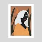 Woman Boho Illustration - Art Print by Ariani Anwar