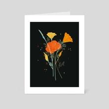 Poppies - Art Card by Samantha Mash