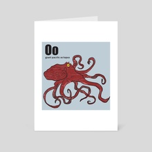 Giant Pacific Octopus - Art Card by Philip Painter