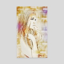 Facet Abstract Portrait - Canvas by Galen Valle