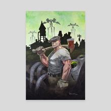 The Goon vs. Martians - Canvas by John Petersen