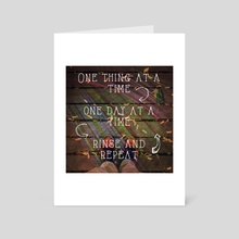 One Day at a Time - Art Card by Ashley Wann