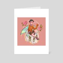 skull fairy boy - Art Card by Hyemin Yoo