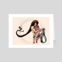 "Nudite et Delires ""Tricot"" Color - Art Card by Chloé Beny"