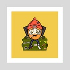 Humpty Dumpster - Art Print by WLVS