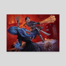 Improvised Weaponry   Magic: the Gathering   Adventures in the Forgotten Realms - Canvas by Alix Branwyn