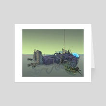 Island cover - Art Card by Gael Bertrand