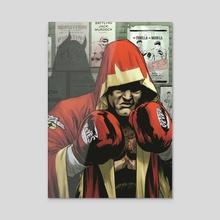 Daredevil boxing. - Acrylic by Rodrigo Lorenzo