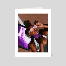 Purple dream - Art Card by Dorian Legret