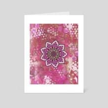 Pink Mandala - Art Card by Winston Mauricio Sobalvarro