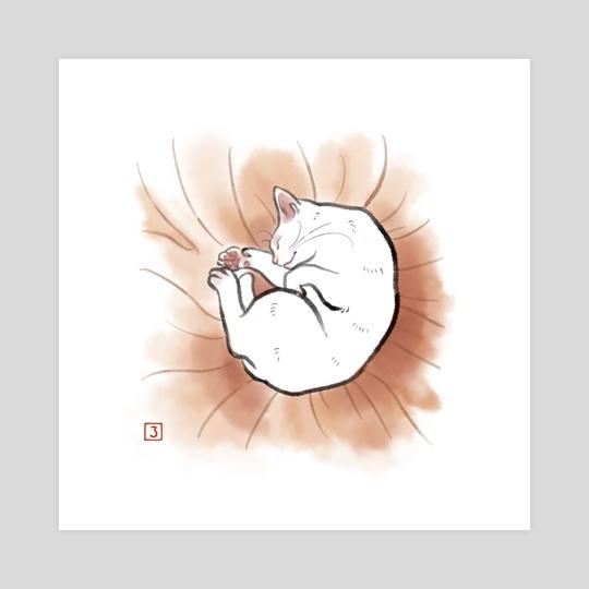 Sleeping cat by Rosy Hanasaki