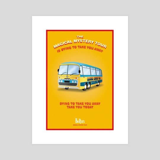 Magical Mystery Tour Beatles Poster's by Alessandro Berzuini