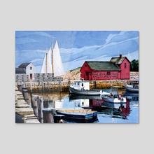 Sails Up - Acrylic by Richard Correale