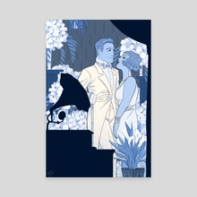 The Great Gatsby - Flowers - Canvas by noahjayne