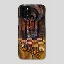 Unlock Knowledge. Mystic keyhole in the wall - Phone Case by Bruce Rolff