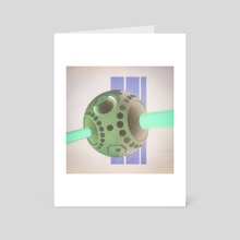 thinkbot - Art Card by drewmadestuff