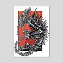 Alien - Acrylic by Blue StrayCatt Art
