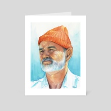 Bill Murray as Steve Zissou from The Life Aquatica - Art Card by Olga Shvartsur