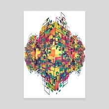 Digital Slums - Canvas by Falcao Lucas