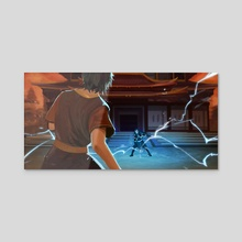 Zuko vs Azula - Acrylic by AriesPsyche