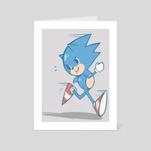sonic - Art Card by msjoestar