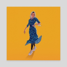 Flower Dress - Canvas by Nimra J