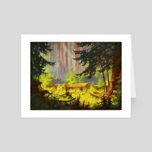 Redwood (US Highway 101) by V.P. Shkurkin - Art Card by Katya Shkurkin
