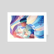 Follow the Flow - Art Card by Frame25lab