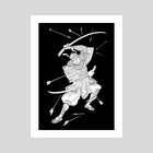 Samurai - Art Print by Katherine Boykova