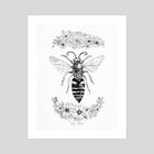 Bee Kind - Art Print by India Mawn