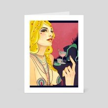 Lady Heart - Art Card by Megan Russell