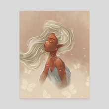 white butterflies - Canvas by Emma Kielgas