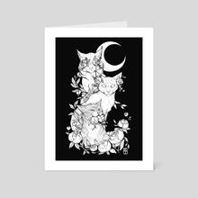 See no evil, hear no evil, speak no evil - Art Card by Krista Tyni