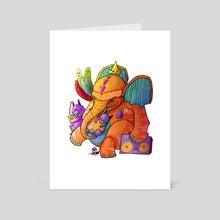 Tiger Elephant - Art Card by Ten Hundred
