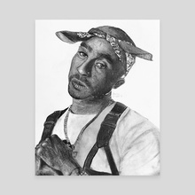 Tupac Shakur - Canvas by Brandon Marriott