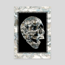 Unexpected Path Skull - Canvas by Andi GreyScale