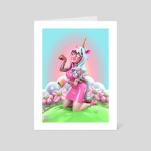 Unicorn Cara - Art Card by Andrew Hickinbottom