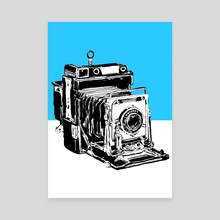 Vintage Graphex Camera in blue - Canvas by Aiden James