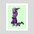 Killua Purple - Art Print by Alexis W