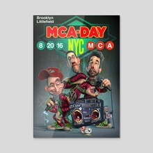 Three MCs (MCA day variant) - Acrylic by Lee Davies