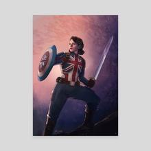 Captain Carter - Canvas by Jake Bartok