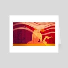 The Red Lounge - Art Card by Joana Neves