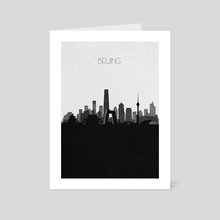 Beijing - Art Card by Deniz Akerman