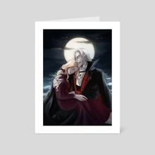 Lisa and Dracula - Art Card by Tamafry